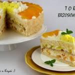 Tort jak słońce... brzoskwiniowy  z galaretkami
