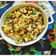 Kalafior pieczony na złocisto i recenzja ksiażki Kuchnia długowiecznych.