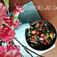 Pieczone zielone Szparagi z ziemniakami