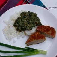 Ryż z zielonym sosem