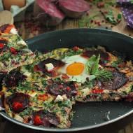 Schrzaniony omlet z botwiną