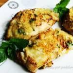 Dorsz smażony z serem i bazylią