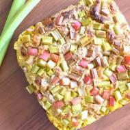 Drożdżowe ciasto owsiane z rabarbarem :)