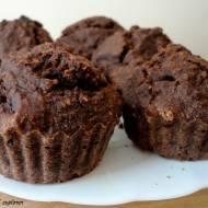 Czekoladowe muffinki owsiane z orzechami