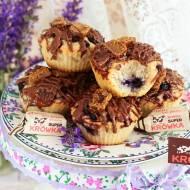 Wegańskie muffinki kokosowe z jagodami i krówkami (bez laktozy, cukru białego, wegańskie)