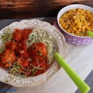 Klopsiki wieprzowe w ostrym, orientalnym sosie pomidorowym z ryżem pietruszkowym