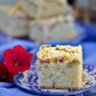 Ciasto bezglutenowe z rabarbarem