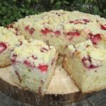 Ciasto maślankowe z truskawkami i kruszonką-szybkie, pulchne i pyszne :)
