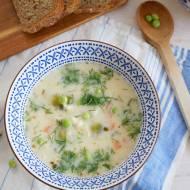 Wiosenna zupa z pęczakiem