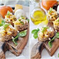 Bruschetta z kaki i mozzarella