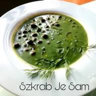 Zupa szpinakowa na mleku kokosowym z czarną cieciorką