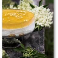 Wiosenny torcik bez pieczenia o smaku cytryny i kwiatów bzu