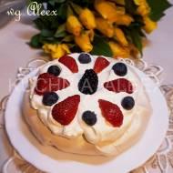 Bezowe tartaletki z owocami wg Aleex