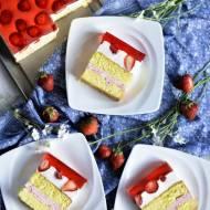 Ciasto biszoptowo truskawkowe