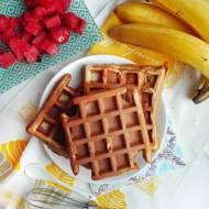 Pełnoziarniste gofry bananowe bez cukru