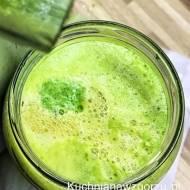 Koktajl na śniadanie, pięknie zielony i pyszny