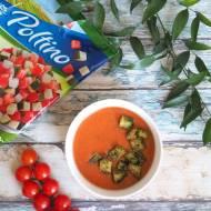 Gazpacho z ziołowymi grzankami