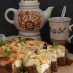 Ciasto kawowe z sernikiem i jabłkami