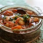 Krewetki w sosie z pastą pesto z suszonych pomidorów