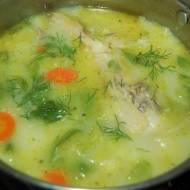Zabielana zupa z młodej kapusty