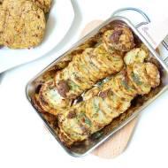 Ziemniaki grillowane w musztardzie z kotletami z czerwonej soczewicy (wegański grill)
