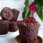 Muffiny czekoladowe z konfiturą malinową