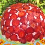 sernik truskawkowa kopuła- na zimno  bez pieczenia