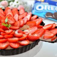 Tarta Oreo z truskawkami