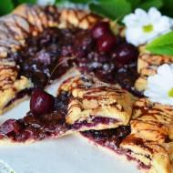Czereśniowe galette z czekoladą