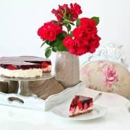 3 składnikowy sernik na zimno z galaretką i owocami