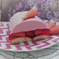 Lekkie ciasto z truskawkami (na zimno)