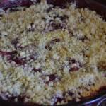 Sypane ciasto truskawkowe