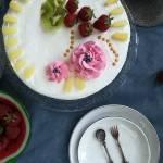 Tort ananasowo-truskawkowy