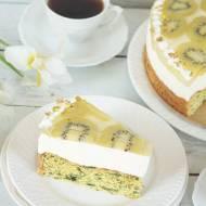 ciasto szpinakowe z kiwi i mascarpone