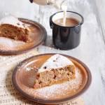 Proste orkiszowe ciasto rabarbarowe