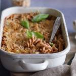 Zapiekanka makaronowa z mięsem i szparagami / Meat and asparagus pasta bake