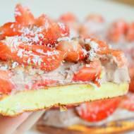 Omlet proteinowy z truskawkami :)