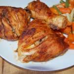 Pikantne, kawałki kurczaka z piekarnika z wódką