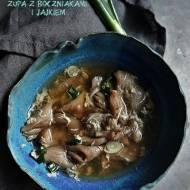 Zupa z boczniakami i jajkiem