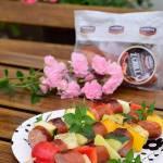 Szaszłyki z kiełbasą i warzywami w marynacie balsamicznej
