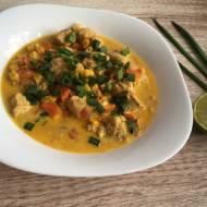 Curry z imbirem i kurczakiem