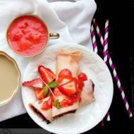 Naleśniki z truskawkami - słodkie śniadanie dla dzieci
