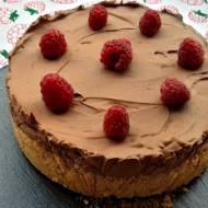 Torcik czekoladowy z malinami (bez pieczenia).
