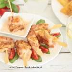 szaszłyki z kurczaka i boczku