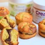 Muffinki z kremem orzechowo-czekoladowym :)