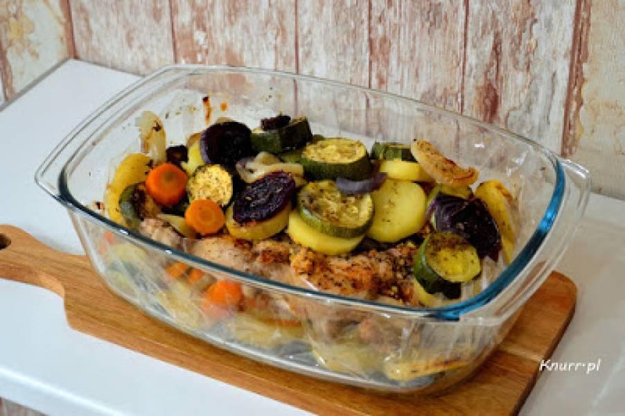 Pieczeń drobiowa z warzywami