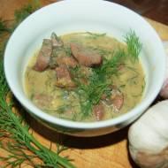 Nerki wieprzowe w koperkowym sosie