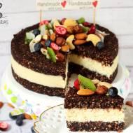 """Raw tort orzechowo-kokosowy (bez glutenu, cukru białego, laktozy, wegański) + Recenzja magazynu """"Bezbolesne Usuwanie Cukru z Die"""