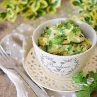 Zielone risotto z cukinią i bobem