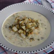 Zupa szczawiowa z kalarepą